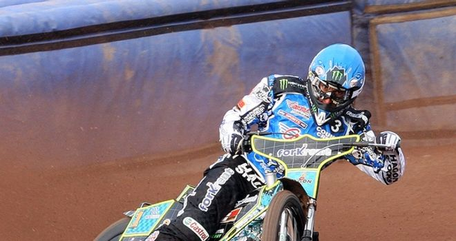 Chris Holder: Top scored for Poole (PIC CREDIT poolepspeedway.co and Dave Fairbrother)