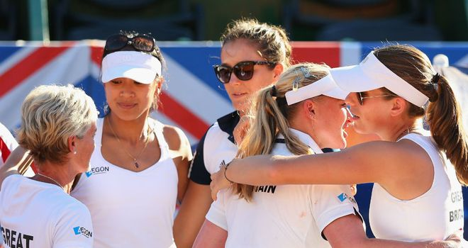 Great Britain's Fed Cup team beaten in Argentina earlier this year