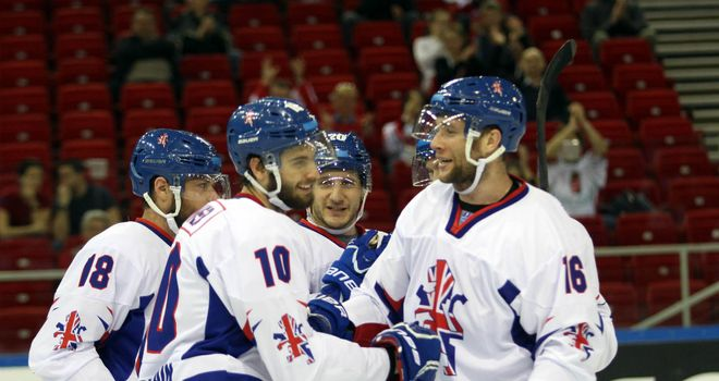 Great Britain celebrate Robert Farmer's goal (picture credit: Diane Davey)