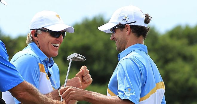 Greg Norman and Adam Scott have a close relationship.