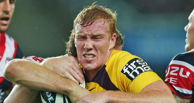 Jack Reed: England centre in action for the Brisbane Broncos