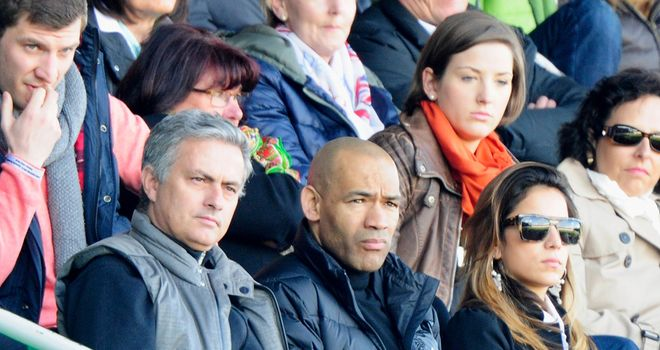 Jose Mourinho: Watches on at Trolli-Arena