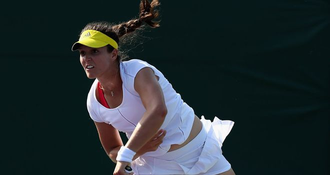 Laura Robson: eight double faults
