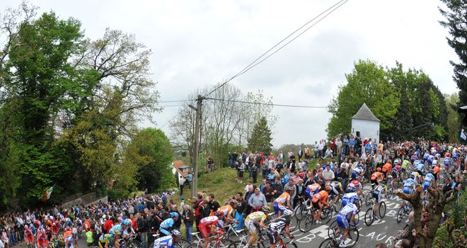 The famous Mur de Huy truly is a wall