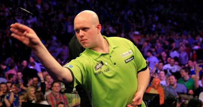 Picture of Michael van Gerwen courtesy of Lawrence Lustig/PDC
