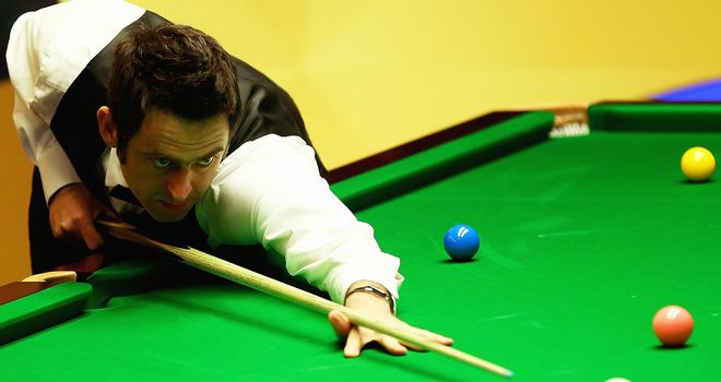 Ronnie O'Sullivan: Four frames away from a quarter-final berth.