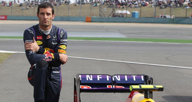 Mark Webber: Will start Chinese Grand Prix from the pitlane