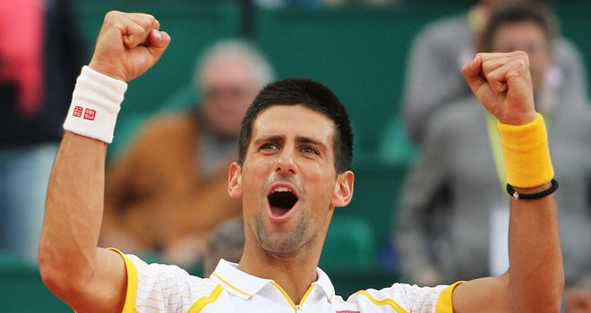 Djokovic: ended Nadal's monopoly of the Monte Carlo Masters with 6-2 7-6 win