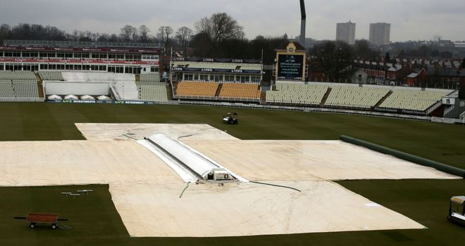 Covers stayed on at Edgbaston