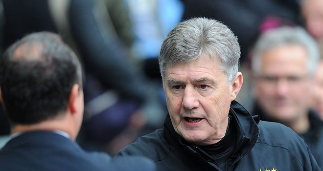 Brian Kidd: In charge of Manchester City at Reading