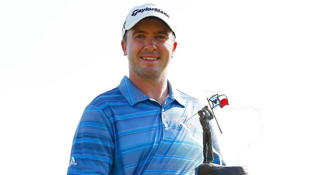 Martin Laird: Scot proudly displays the Texas Open trophy