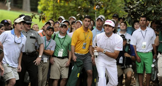 "Bubba Watson hits ""that"" shot at the 10th which ultimately earned the Masters title."