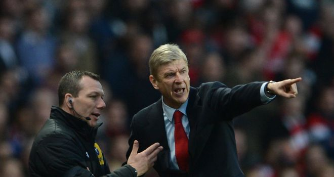 Arsene Wenger was unhappy with some of Everton's tackling during the draw at the Emirates
