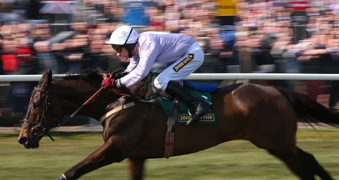 Solwhit on his way to victory at Aintree