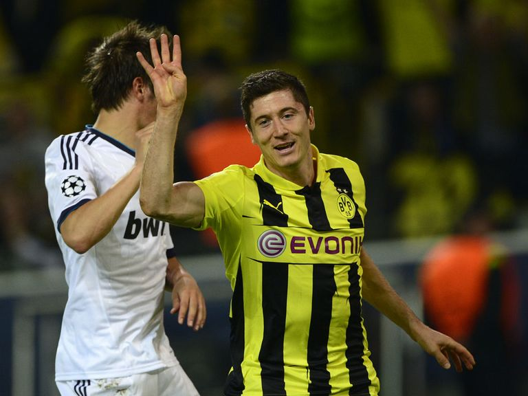 Robert Lewandowski: Scored four goals in CL semi-final