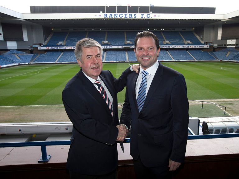 Craig Mather (left) has taken up the Ibrox hotseat