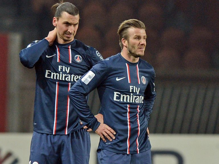 Zlatan Ibrahimovic and David Beckham: PSG team-mates