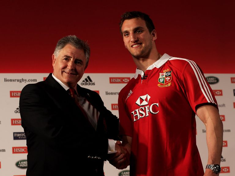 Sam Warburton (right) will captain the Lions