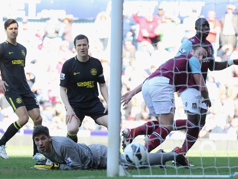 Matt Jarvis scores for West Ham against Wigan