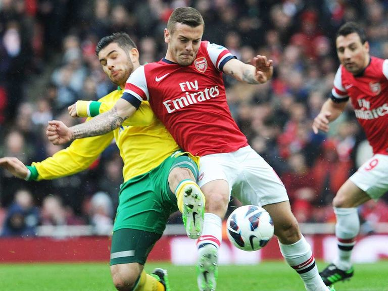 Jack Wilshere: Not at his best against Norwich