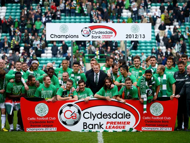 Celtic retained the SPL title on Sunday