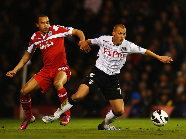 Sidwell: Sent off in victory over QPR