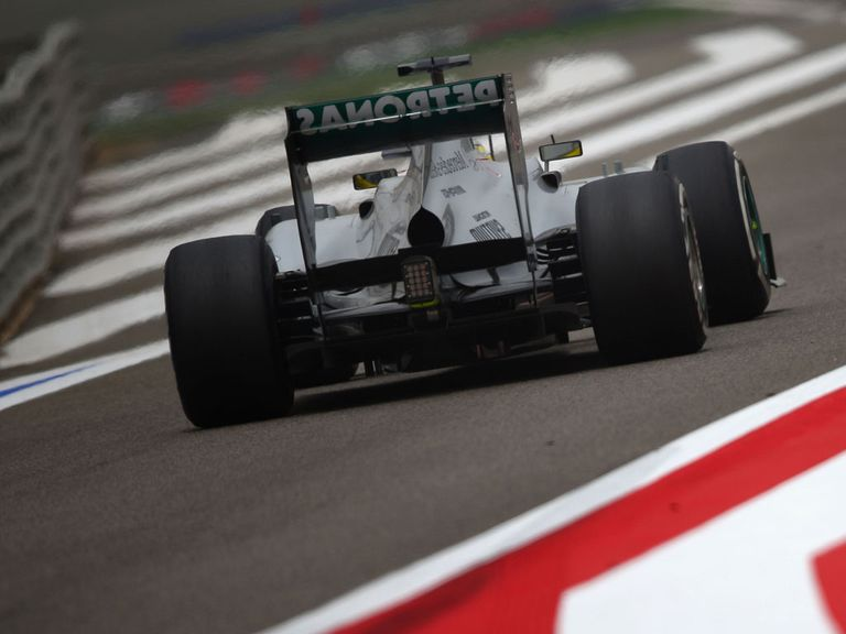 Rosberg on his way to pole position
