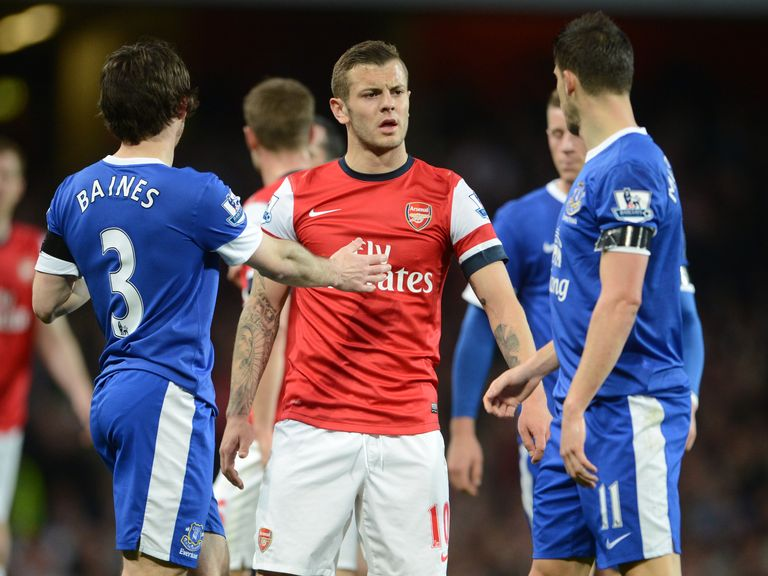 Jack Wilshere was involved in a half-time row.