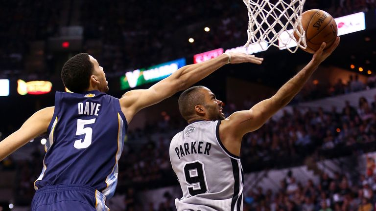 Setting the Tone: Parker (R) is one of San Antonio's main men