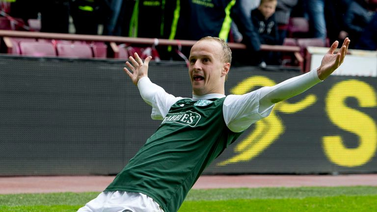 Leigh Griffiths: Has scored 28 goals for Hibs this season