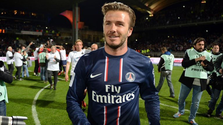 David Beckham: Yet to commit himself to a new deal at Paris St Germain