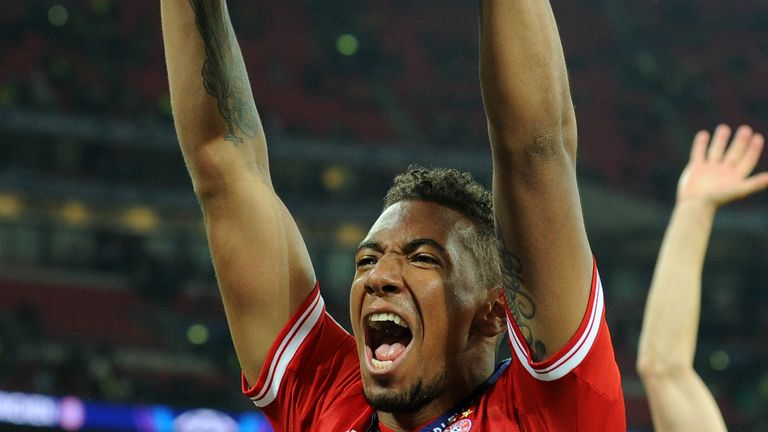 Jerome Boateng: Celebrates Bayern's Champions League success