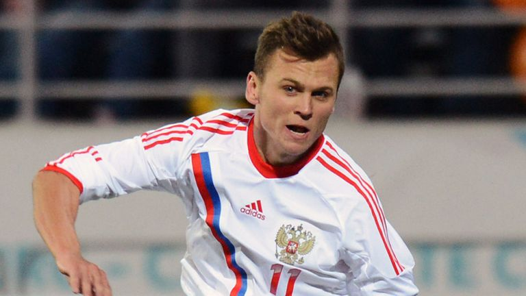 Denis Cheryshev: Misses out for Russia
