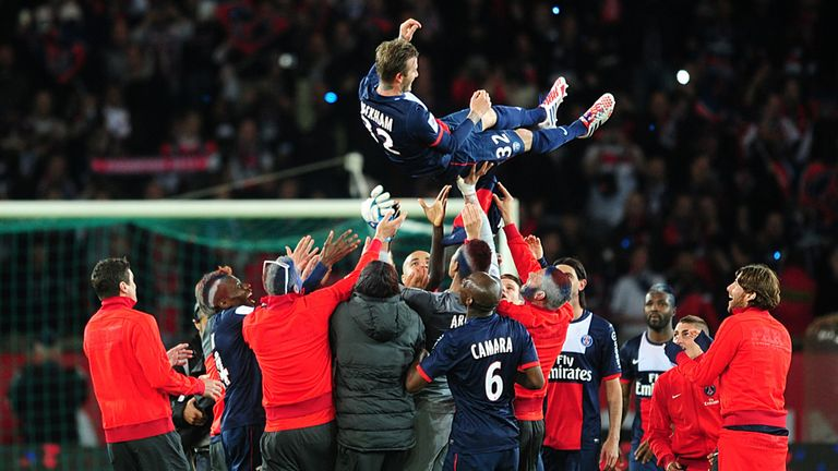 David Beckham: Given emotional farewell at PSG after long career