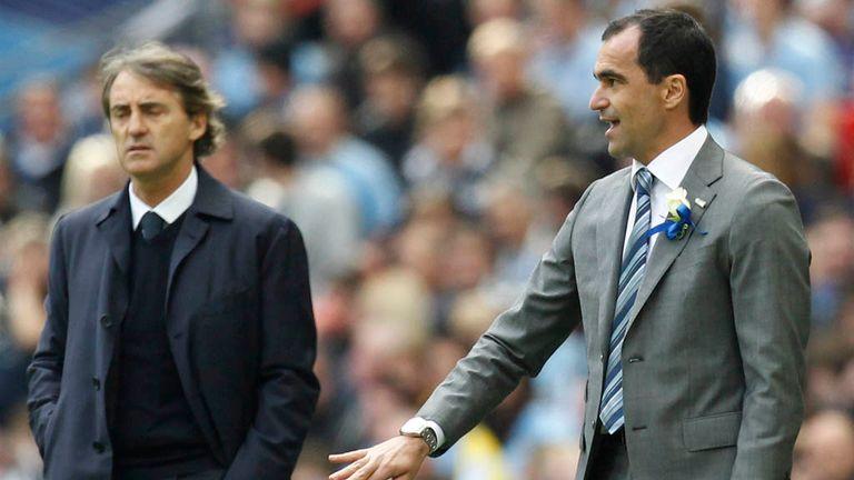 Roberto Mancini: Saw Manchester City come unstuck against Roberto Martinez's Wigan