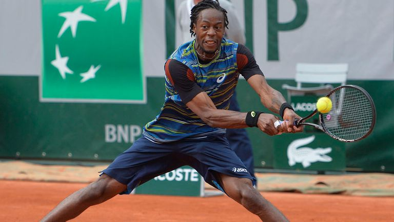 Gael Monfils: Bested his fellow Frenchman in Stuttgart