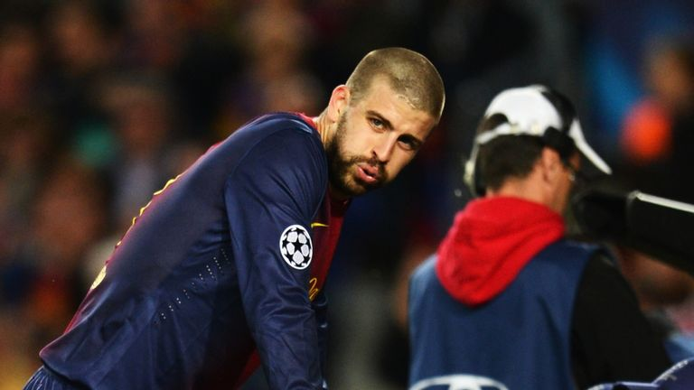 Gerard Pique: Disappointing night at Camp Nou