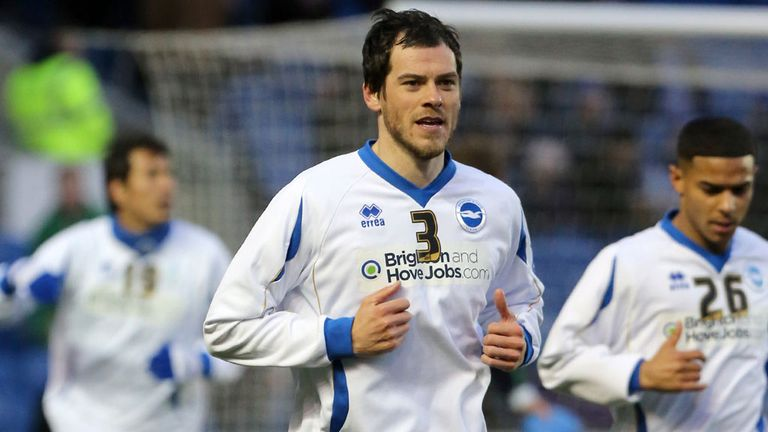 Gordon Greer: Has been rewarded for a good season at Brighton.