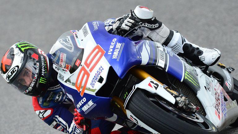 Jorge Lorenzo en route to victory in Catalunya