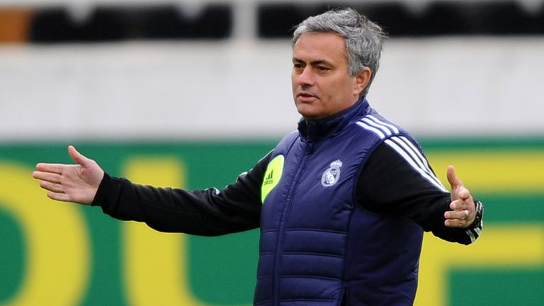 Jose Mourinho: Took Real Madrid training on Tuesday