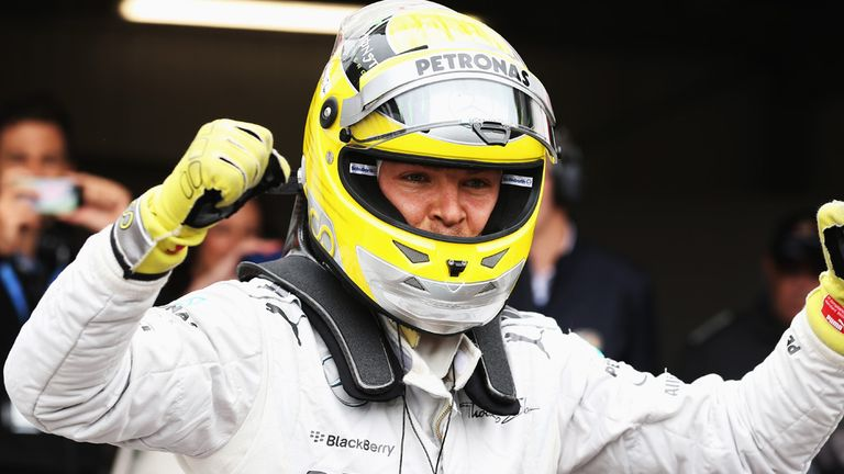 Nico Rosberg: On pole position in Monaco