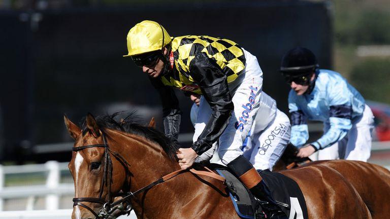 Ninjango moved well ahead of the Hackwood Stakes