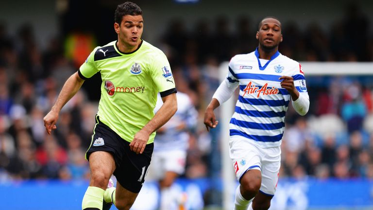 Hatem Ben Arfa (l) scored in what proved a priceless 2-1 win at QPR