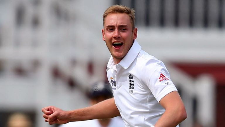 Stuart Broad struck early, removing Brendon McCullum with an LBW.