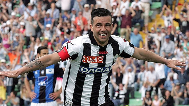 Antonio Di Natale: Marked his 300th Serie A appearance for Udinese with a late goal