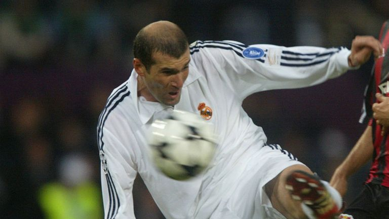 Zinedine Zidane: Scored a wonderful volley in the 2002 Champions League final to help defeat Bayer Leverkusen