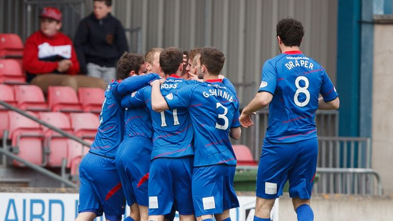 Celebrations in Inverness where the home side edged Motherwell by the odd goal in seven