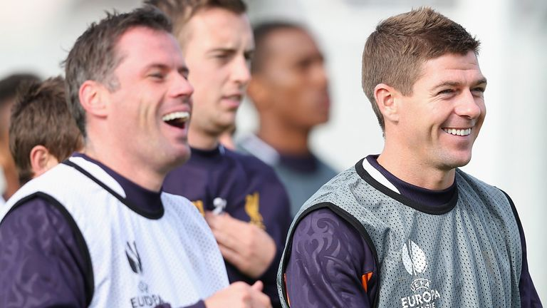 Jamie Carragher and Steven Gerrard: Close on and off the pitch