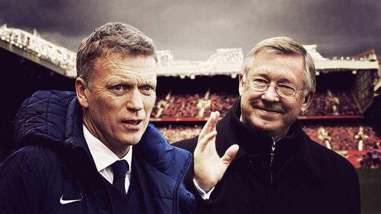 David Moyes is charged with the task of following Sir Alex Ferguson at Old Trafford