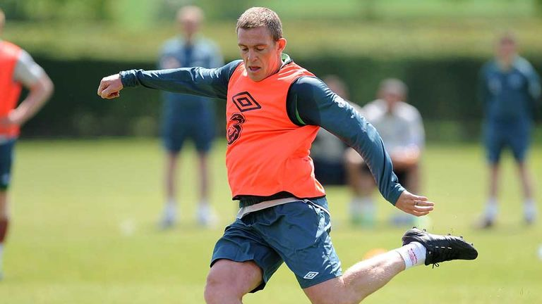 Richard Dunne: Training ahead of the Republic of Ireland's 1-1 draw at Wembley
